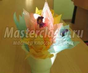 Мастер-класс. Цветы из салфеток с сюрпризом