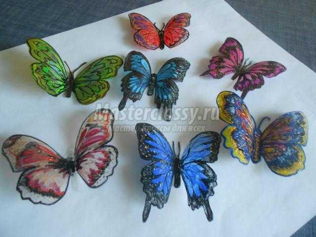 Бабочки с пластиковых бутылок 168