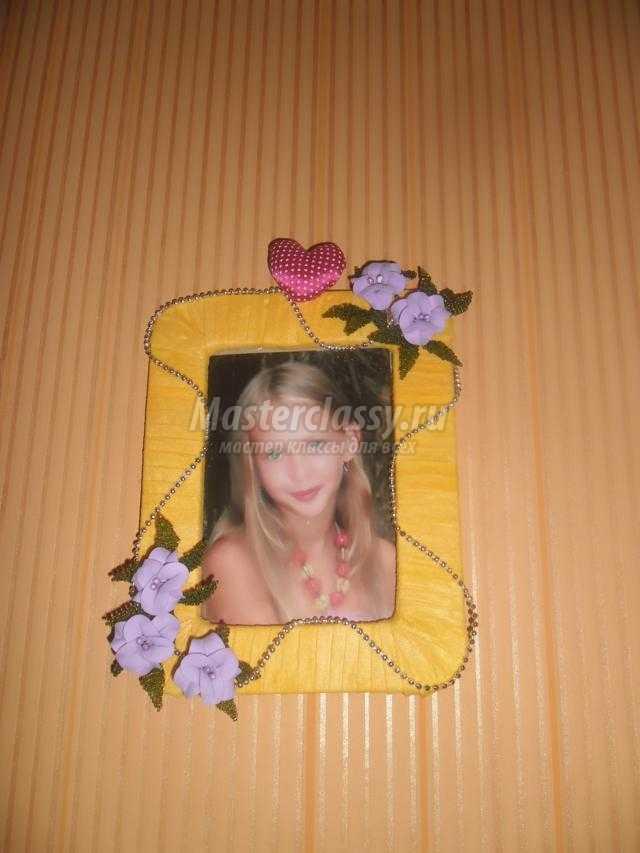 рамочка для фотографии из подручных материалов