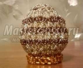 Пасхальное яйцо, оплетенное бисером. Мастер-класс с пошаговыми фото
