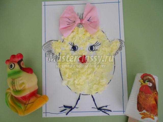 пасхальная открытка. Цыпленок