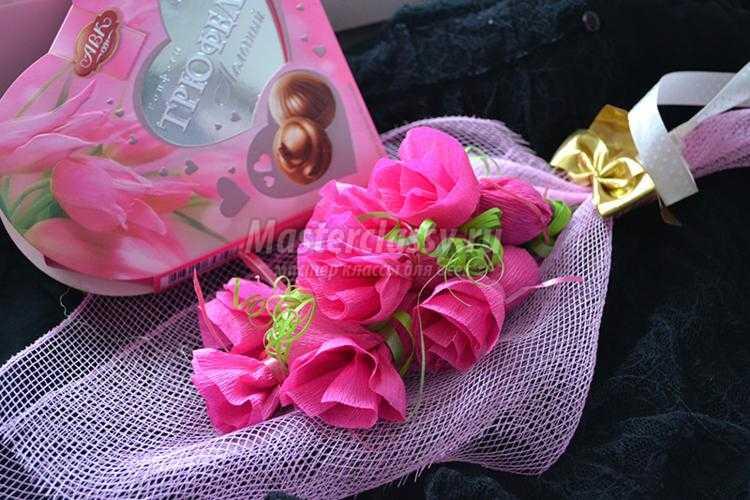 букет из конфет своими руками. Розы