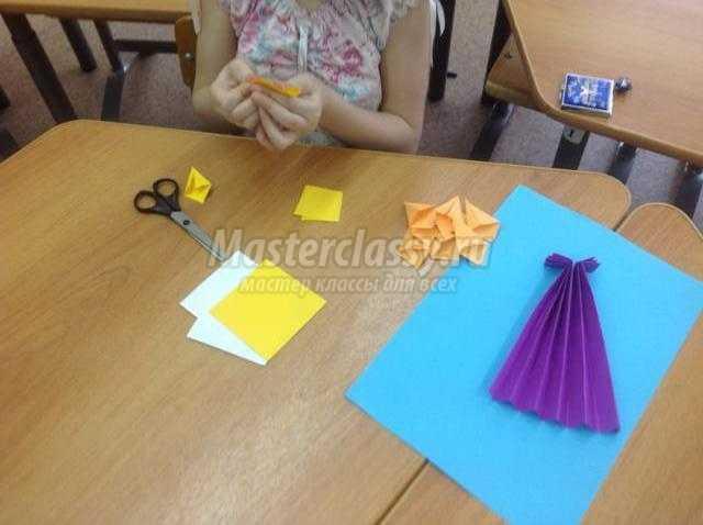 оригами панно. Весенние цветы нарциссы