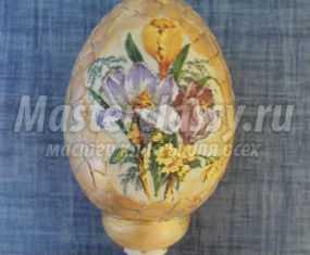 Декупаж. Декор пасхального яйца скорлупой. Мастер-класс