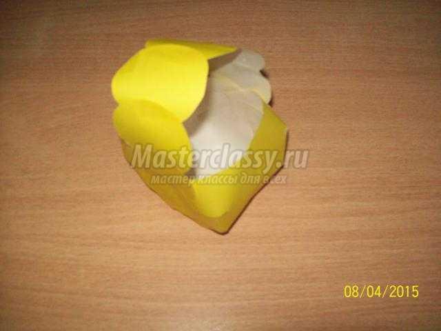 весенняя корзинка из бумаги