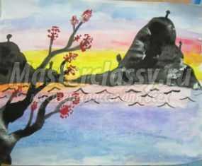 Рисование акварелью. Весенний пейзаж. Мастер-класс с пошаговыми фото