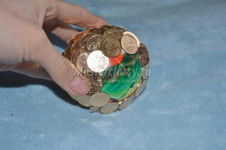 денежный топиарий. Золотые монеты