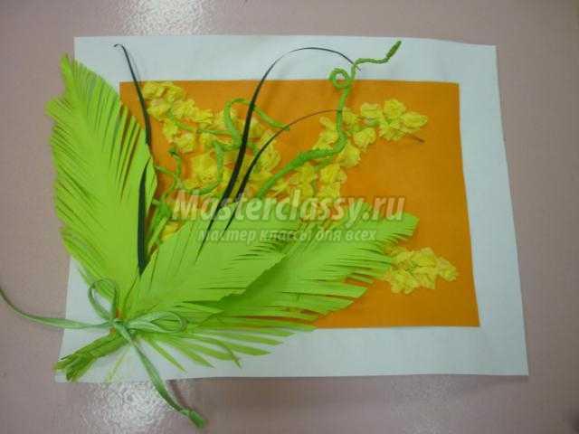 Подарок маме ветка мимозы 750
