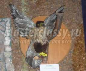 Степной орёл в технике ложная таксидермия. Мастер-класс