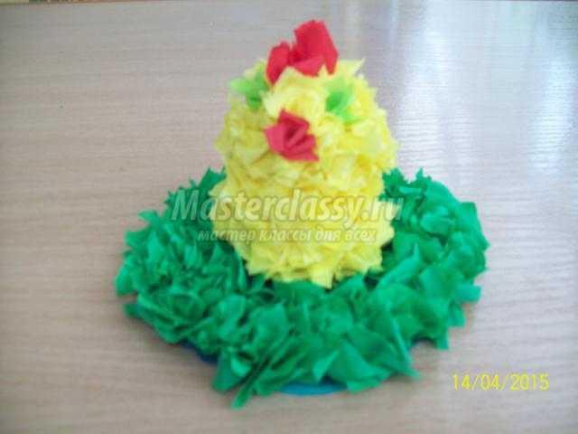 цыпленок в технике торцевание на пластилине
