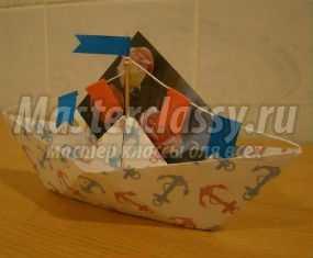 Оригами. Кораблик на 23 февраля. Мастер-класс с пошаговыми фото