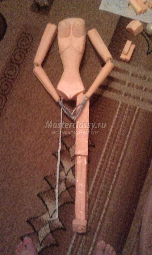 каркасная кукла своими руками. Танцовщица