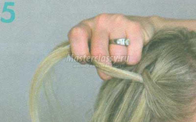 причёска перекрученный водопад