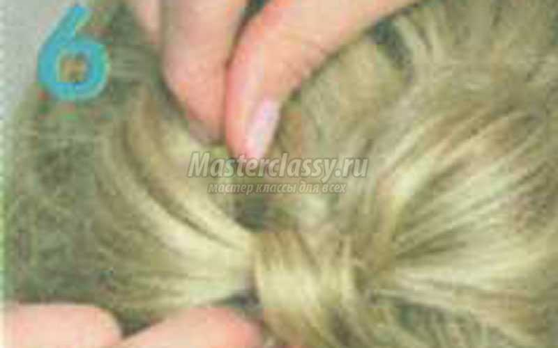 причёска бант из половины волос