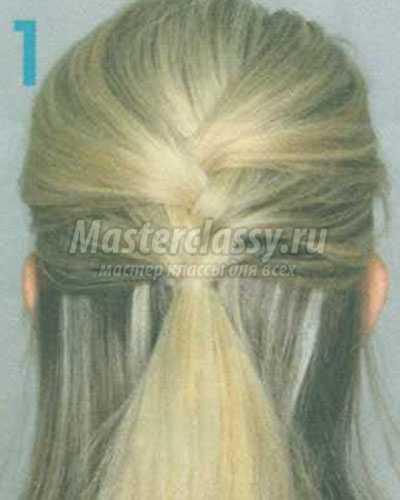 причёска пучок из косы каната