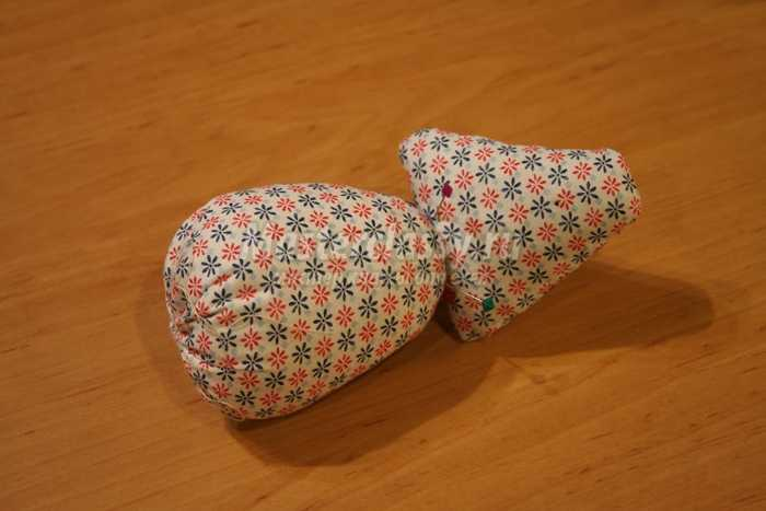 Утка в шляпке текстильная