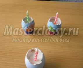 Пасхальный подсвечник из яичной скорлупы. Мастер-класс с пошаговыми фото