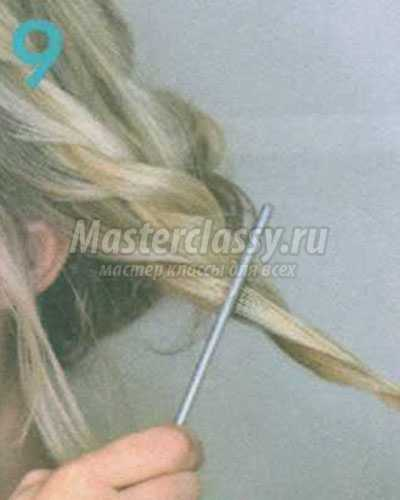 богемская причёска на затылке