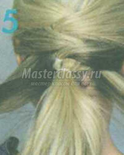 причёска перекрёстный хвост