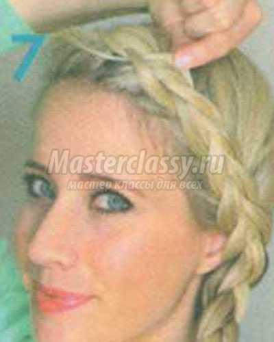 голландская коса на одну сторону