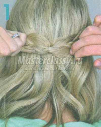 конский хвост с косами