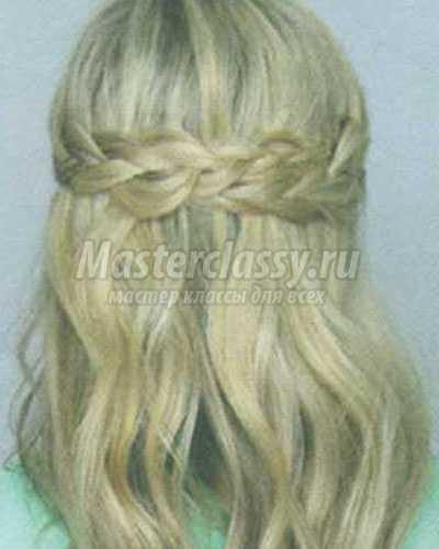причёска корона из кос