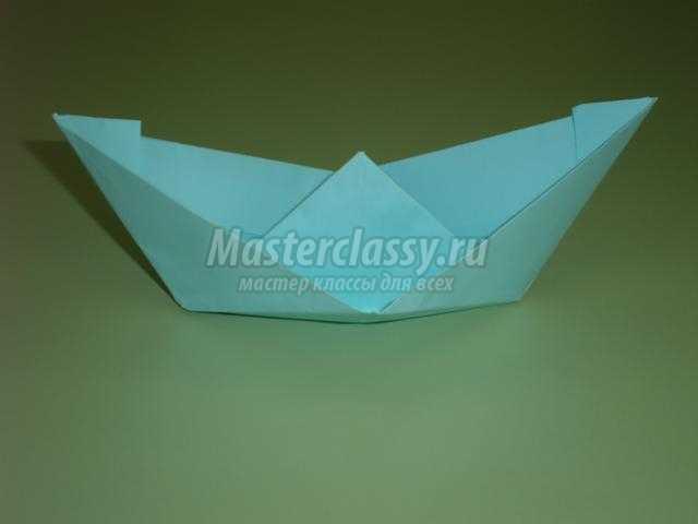 оригами. Кораблик в подарок папочке