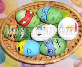 Мастер-класс. Роспись пасхальных яиц. Прикольные Черепашки