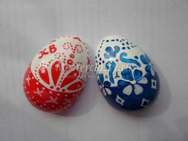 пасхальные яйца-магниты из гипса
