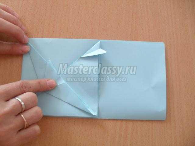оригами. Открытка с голубем к 9 Мая