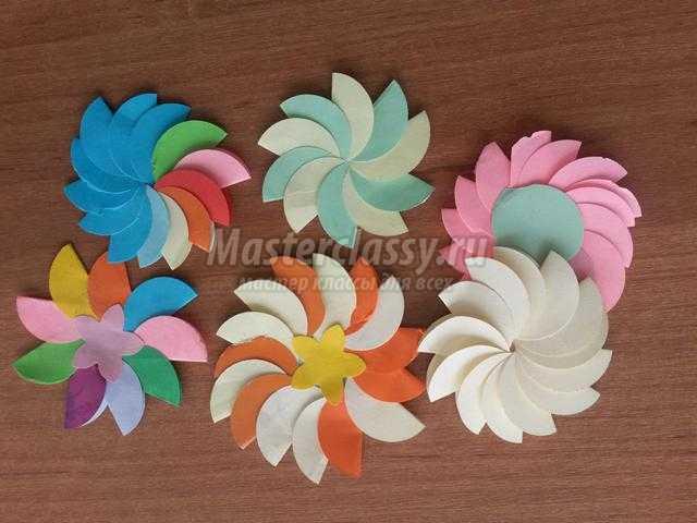 Красивые и простые цветы из бумаги