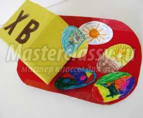 Пасхальная композиция из бумаги. Кулич с яйцами. Мастер-класс