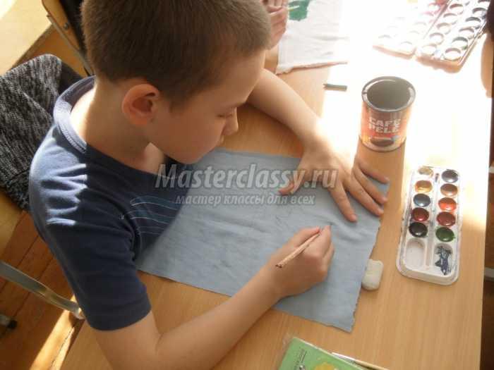 Рисунок на ткани: пошаговый мастер-класс с фото