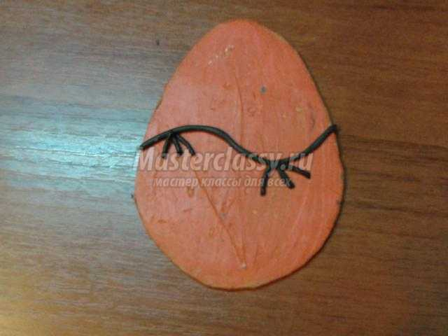 пасхальное дерево яйца в технике пластилинография