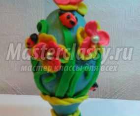Пасхальный сувенир. Яйцо из пластилина. Мастер-класс с пошаговыми фото