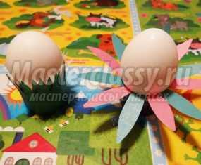 Подставки из картона под пасхальные яйца. Мастер-класс