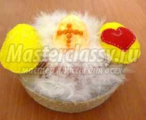 Пасхальные корзинки с яйцами. Мастер-класс с пошаговыми фото