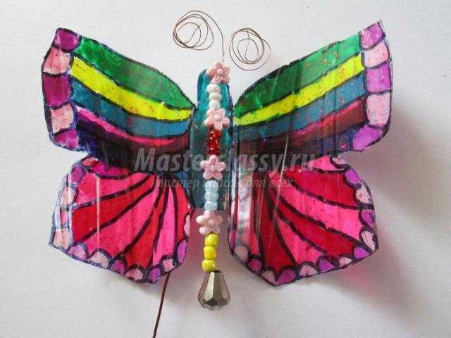 бабочки из пластиковой бутылки