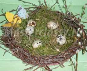 Пасхальное гнездо своими руками. Мастер-класс