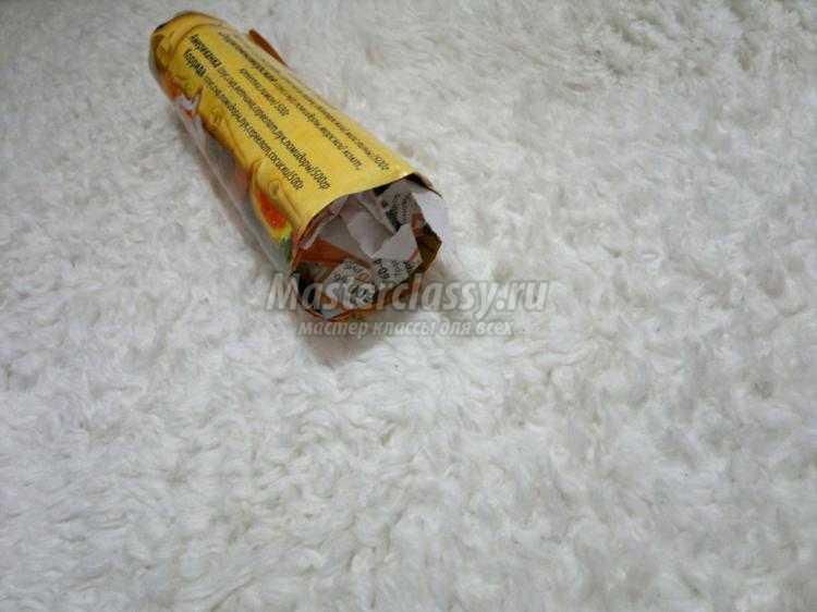 гиацинт из гофрированной бумаги