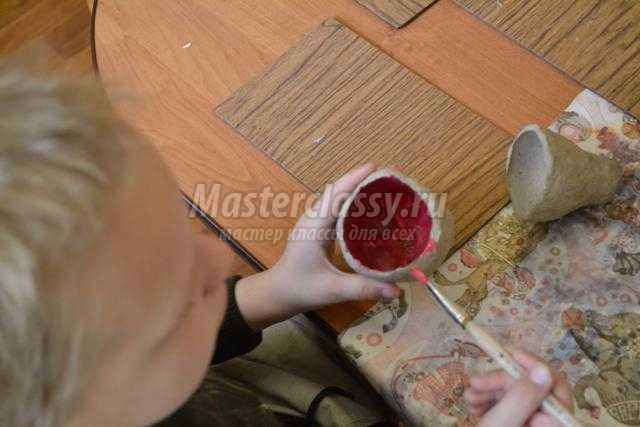 волшебная шкатулка в технике папье-маше