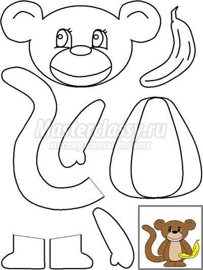 Как сделать обезьяну из бумаги фото