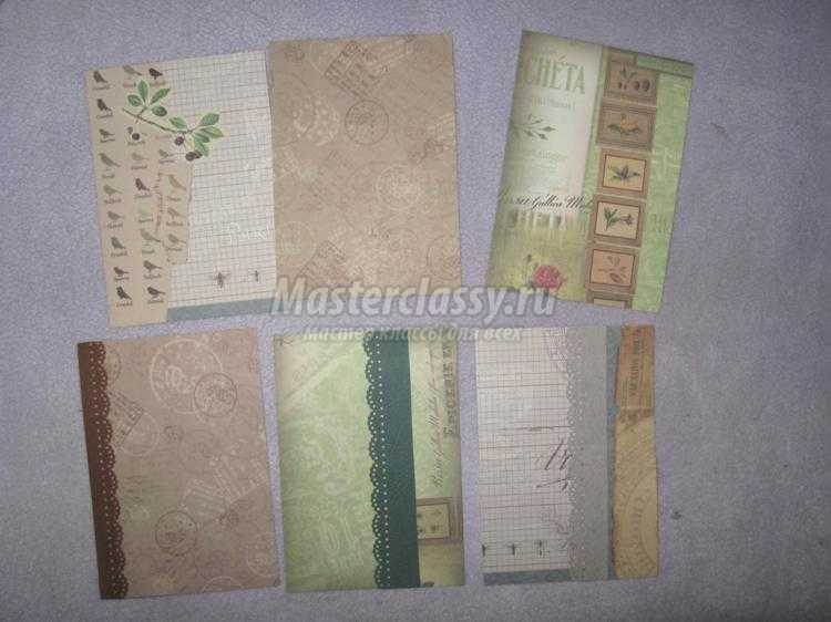 Идея подарка: обложка для паспорта в технике скрапбукинг