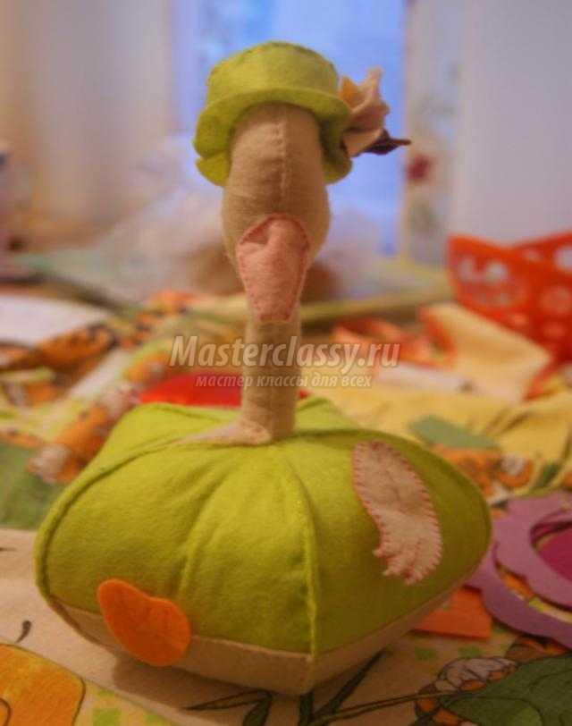 развивающие игрушки из фетра. Гусь