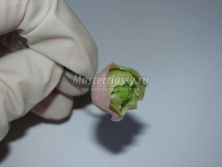ободок с цветами из холодного фарфора. Фиолетовая нежность