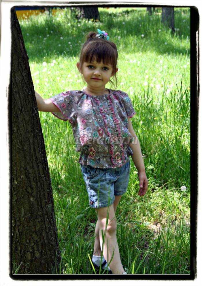 fb0ae8f9c45 Летняя блузка для девочки 5 лет. Мастер класс