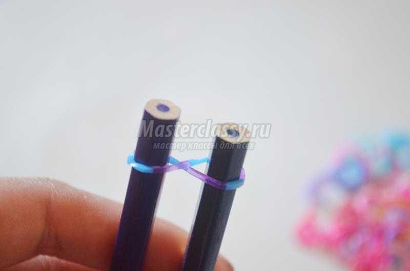 Легкие браслеты своими руками из резинок