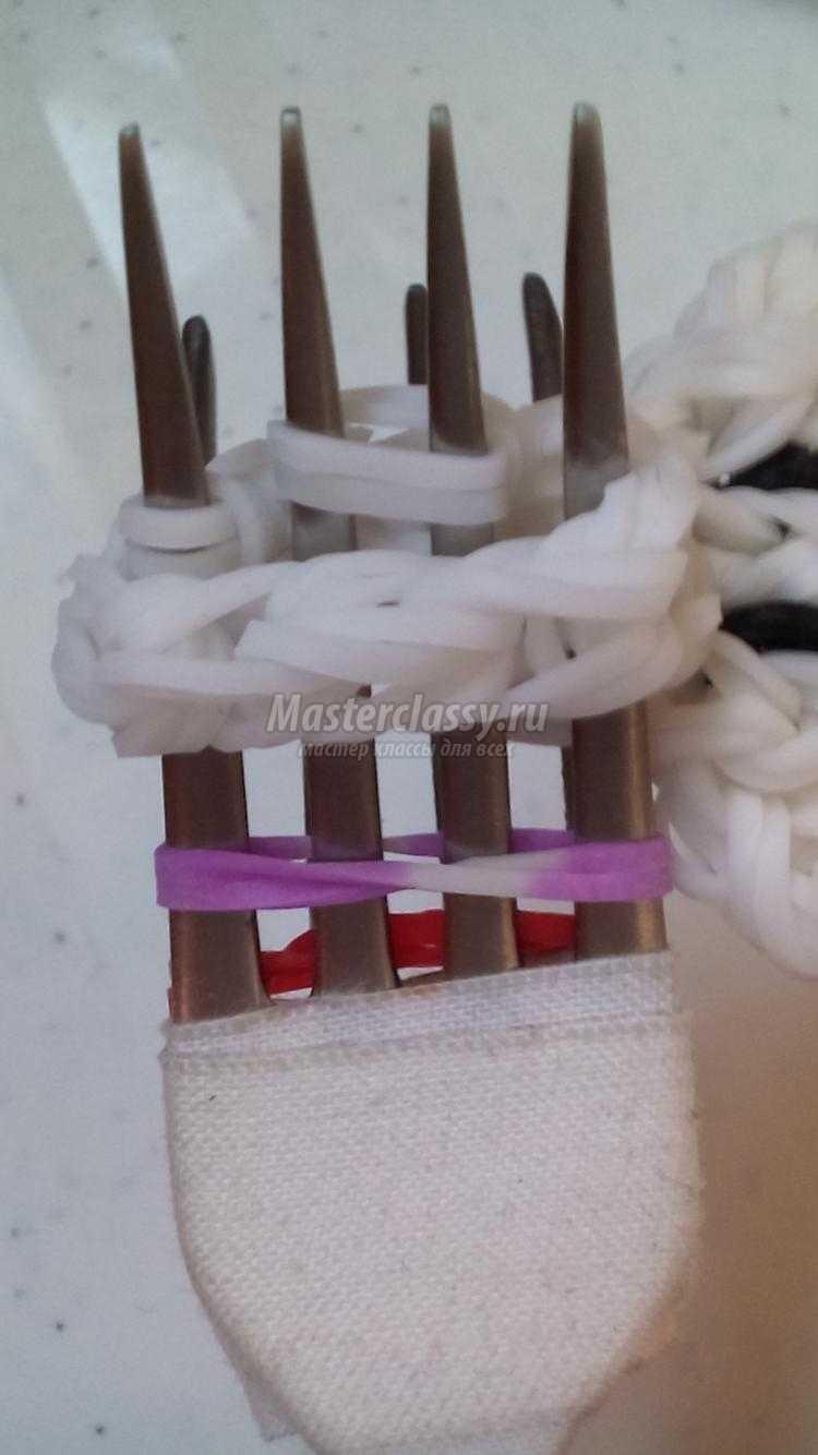 плетение из резинок на вилках. Коала