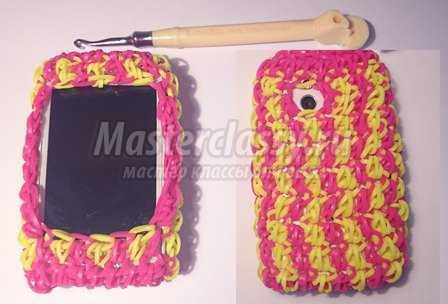 Плетение из резинок на рогатке браслеты пошаговое