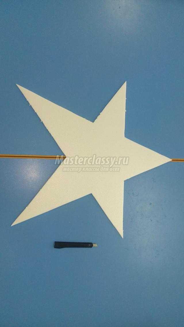 поделка из салфеток и потолочной плитки. Звезда Победы